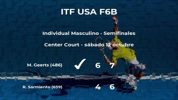 El tenista Michael Geerts estará en la final del torneo de Claremont