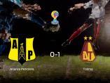 El Deportes Tolima vence 0-1 en el feudo del Alianza Petrolera