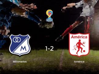 El América de Cali se lleva los tres puntos frente al Millonarios (1-2)