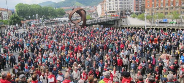 Pensionistas vascos en Bilbao 2019