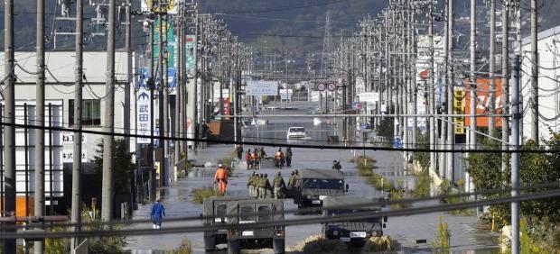 Efectos del tifón 'Hagibis' en Japón