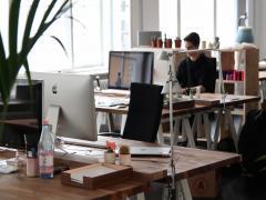 Oficina, empresa, trabajadores