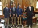 Reunión con responsables del Colegio de Agentes de la Propiedad Inmobiliaria de Jaén.