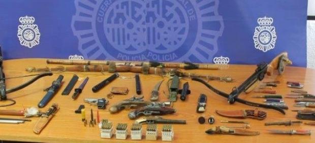 Armas incautadas en La Línea