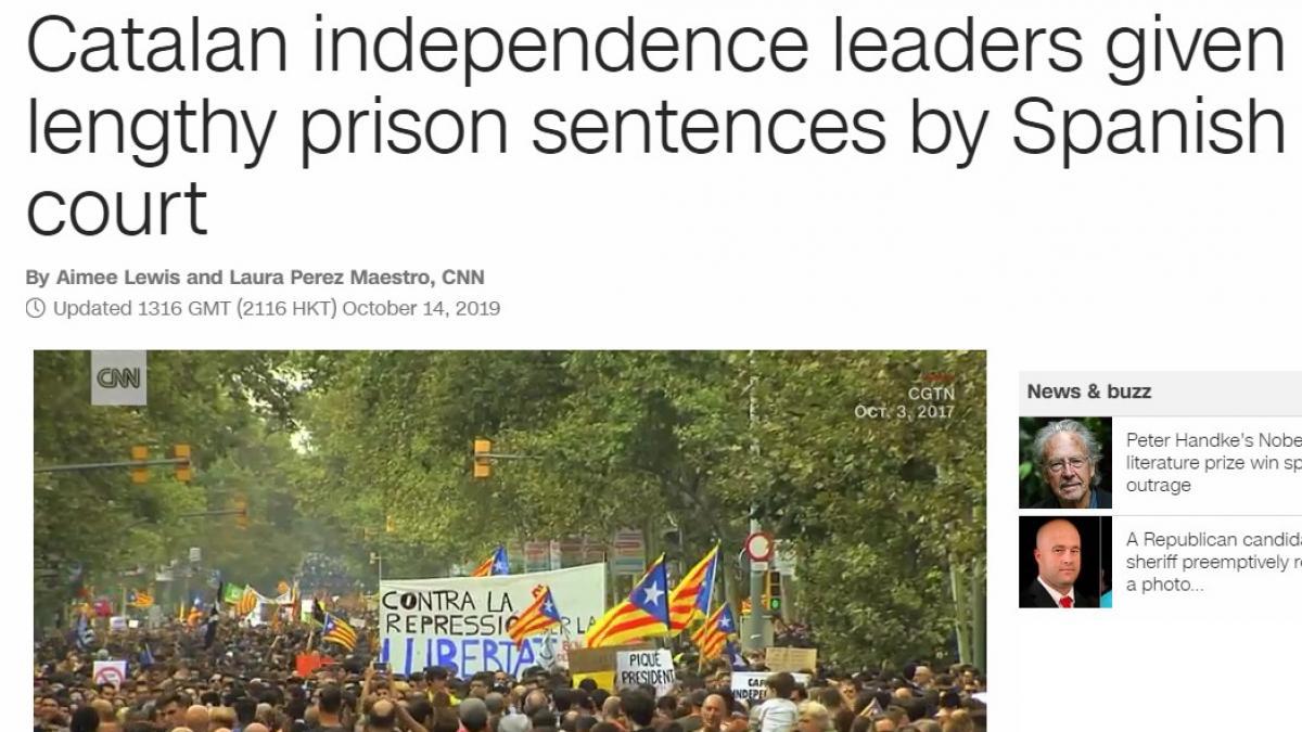 """La prensa internacional informa de la sentencia del Procés, """"la peor crisis de la democracia española"""""""