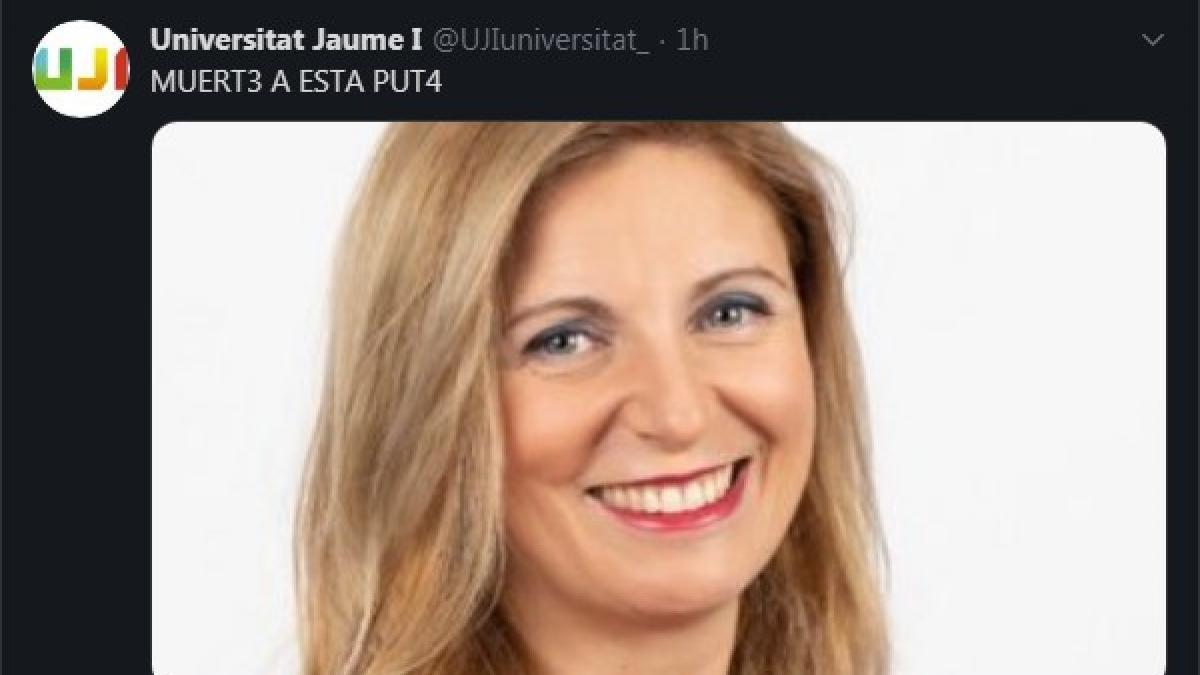 Piratean la cuenta de twitter de la Universidad Jaume I y amenazan de muerte a la alcaldesa de Castellón