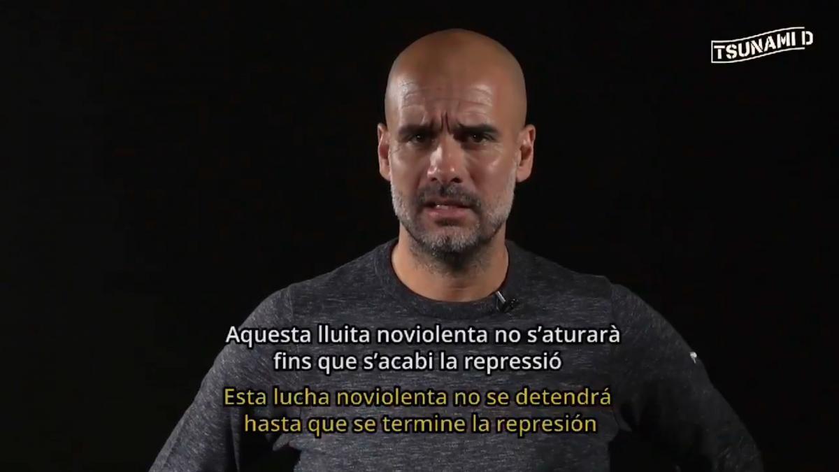 """Pep Guardiola pone voz a Tsunami Democràtic: """"La sentencia del procés es un ataque directo a los..."""