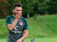 Cenk Sahin, durante un entrenamiento del St Pauli