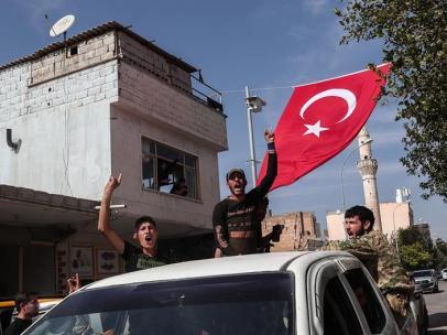 Combatientes sirios apoyados por Turquía