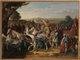 El rey don Rodrigo arengando a los jefes de su ejército