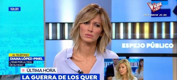 Susanna Griso ha tenido una mañana complicada en 'Espejo Público'