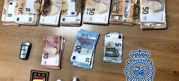 Cocaína y dinero intervenido en Sanlúcar