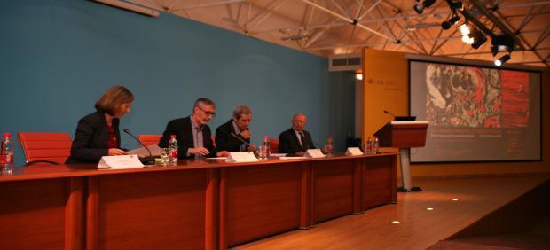 El rector de la UCA, Francisco Piniella, en la apertura del III Congreso Mundial de Braquilogía