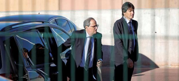 Torra visita a los líderes independentistas condenados por el Supremo en la cárcel de Lledoners.