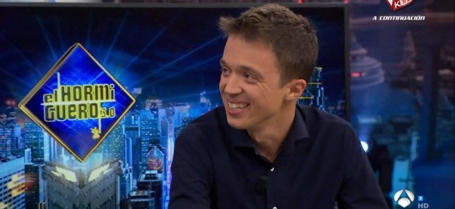 Íñigo Errejón, en 'El hormiguero'.