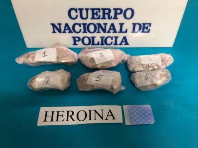 Heroína intervenida en una de las dos operaciones