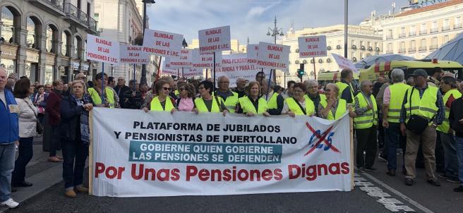 'Las pensiones públicas se defienden'