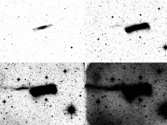 Imagen del halo de la galaxia espiral NGC 3628 recogido en la encuesta HERON
