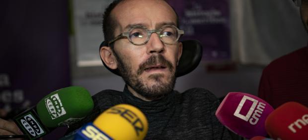 El secretario de Acción de Gobierno e Institucional de Podemos, Pablo Echenique, en Ciudad Real