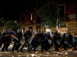 Altercados en Barcelona