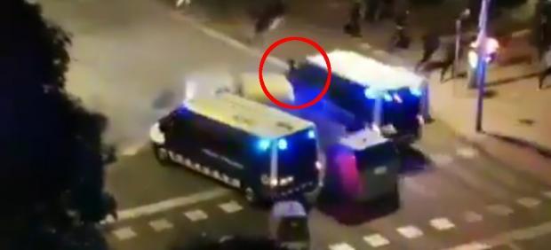 Atropello de un manifestante en Tarragona