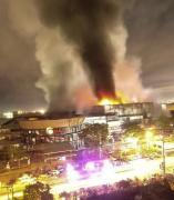 Incendio por un terremoto en Filipinas