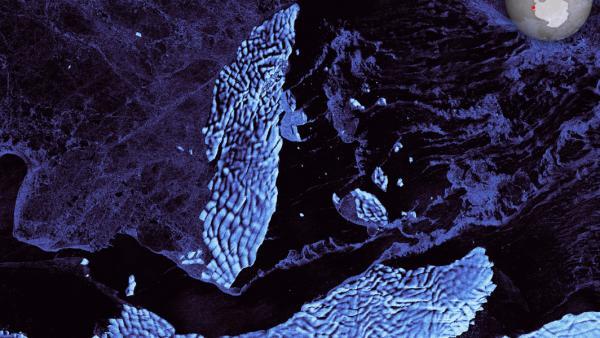 Un iceberg de 35 kilómetros se desprende en la Antártida