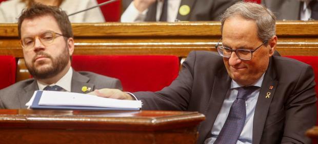El presidente Torra comparece ante el Parlament