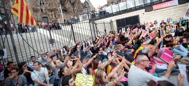 Sagrada Familia, proces, protestas, Barcelona, sentencia, manifestación