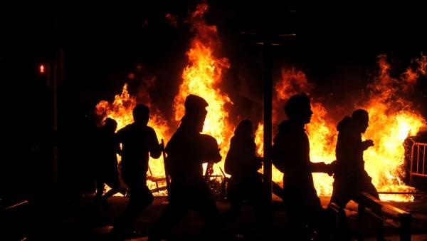 Disturbios tras la concentración