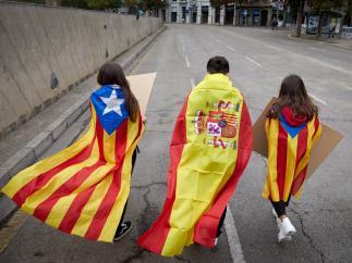 La cuarta huelga general en Cataluña en menos de dos años, en imágenes