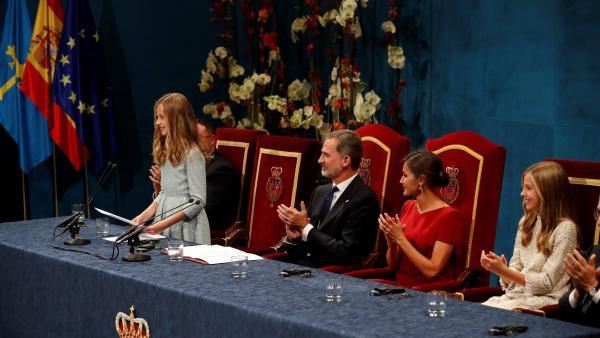 La princesa Leonor da su primer discurso