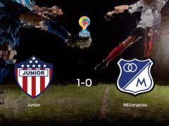 El Junior de Barranquilla consigue la victoria en casa frente al Millonarios (1-0)