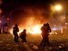 Imagen de los disturbios de Barcelona el viernes