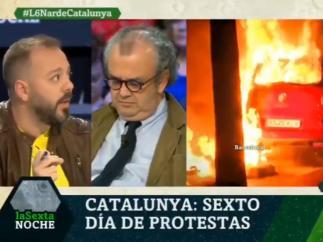 El periodista Antonio Maestre (izquierda) en el programa laSexta Noche