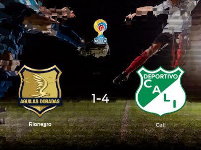 El Deportivo Cali se pasea ante el Rionegro Águilas sin apenas obstáculos (1-4)