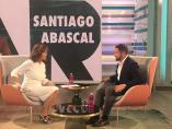 El líder de Vox, Santiago Abascal, entrevistado en 'El Programa de Ana Rosa'.