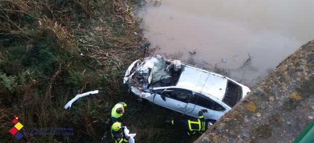 Accidente en la A-384 en Villamartín