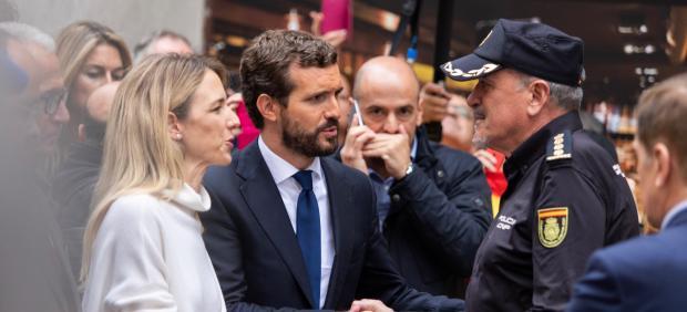 El presidente del PP, Pablo Casado, visita Barcelona junto a Cayetana Álvarez de Toledo
