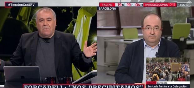 Antonio García Ferreras, durante la emisión de 'Al Rojo Vivo'