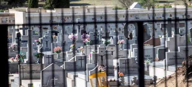 Vista del cementerio de Mingorrubio donde Francisco Franco será enterrado tras su exhumación del Valle de los Caídos el 24 de octubre.